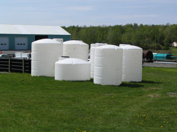 Water Storage Tanks at McCabe's Supply